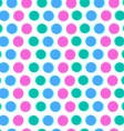 Seamless pattern with color circles vector image vector image