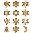 set christmas gingerbread vector image