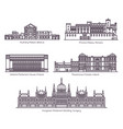 set european parliament buildings in thin line vector image vector image