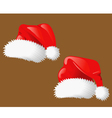 Set of christmas hats Santa Claus vector image vector image