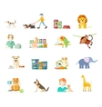 Set of home pets vector image vector image