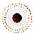 set of medium roasted arabica and robusta coffee vector image vector image