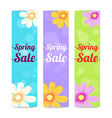 Set of spring season sales banner background vector image vector image