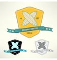 set of surf badges T-shirt surfboard vector image vector image