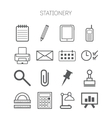 set simple stationery and business icons vector image