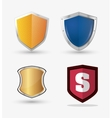 shield protection icons image vector image vector image