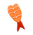 shrimp isolated vector image vector image