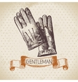 Sketch gentlemen accessory vector image vector image