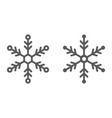 snowflake line and glyph icon snow and winter vector image