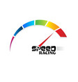 speed meter racing vector image