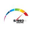 speed meter racing vector image vector image