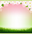 spring poster with flowers vector image vector image