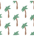 summer seamless pattern with hand drawn palm trees vector image vector image