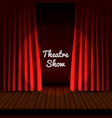 theatrical stage banner realistic style vector image
