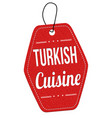 turkish cuisine label or price tag vector image vector image