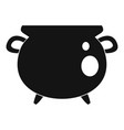 vintage cauldron icon simple style vector image