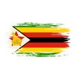 zimbabwean flag brush grunge background vector image vector image