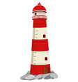 growth mearsuring chart with lighthouse on rock vector image