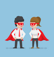 super businessman and businesswoman vector image