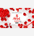 8 march happy womens day sale banner beautiful