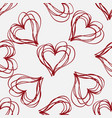 abstract seamless pattern with hatching hearts vector image vector image