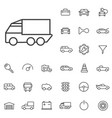 auto outline thin flat digital icon set vector image