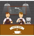 Barista Team At Work Design vector image vector image