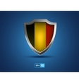 Belgium shield on the blue background vector image vector image