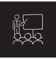 Business presentation sketch icon vector image vector image