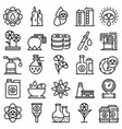 canola icons set outline style vector image vector image