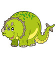cartoon triceratops vector image