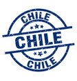 chile blue round grunge stamp vector image vector image