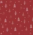 christmas tree and star seamless repeat pattern 4 vector image vector image