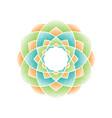 color dots mandala vector image vector image