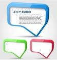 Colorful 3d bubble speech vector image vector image