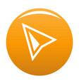 cursor modern icon orange