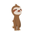 cute basloth standing funny sloth vector image vector image