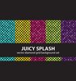 diamond pattern set juicy splash seamless vector image vector image