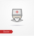 doctor face icon vector image vector image