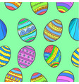 doodle of easter egg colorful collection vector image