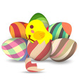 eggs hatch vector image vector image