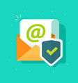 email protected with shield icon flat vector image