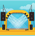 empty stage for open air festival or music concert vector image
