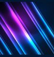 energy lines glowing waves in the dark vector image vector image