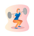 fitness concept of woman barbell vector image