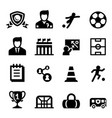 football soccer club icon set vector image