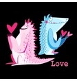 funny monster lovers vector image vector image
