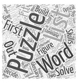 Glossary Mind Boggling Puzzles Word Cloud Concept vector image vector image