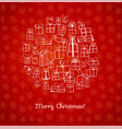 greeting card with christmas gifts hand drawn in vector image vector image