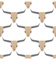 grunge seamless pattern with bull skulls vector image vector image